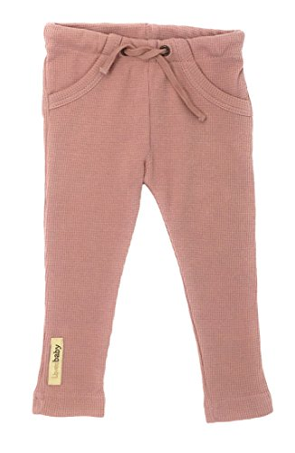 L'ovedbaby Unisex-Baby Organic Cotton Thermal Drawstring Pants (3-6 Months, Thermal -