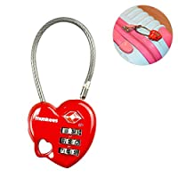 AceCamp Munkees TSA Compatible Travel Luggage Lock Suitcase Locks Inspection Indicator Anti-Theft Type Combination Lock