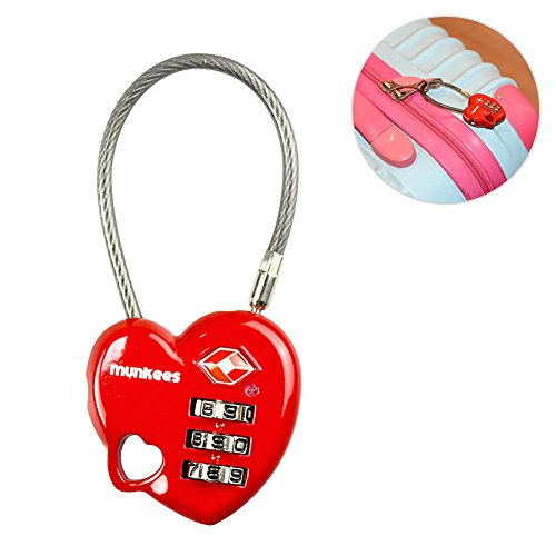 AceCamp Munkees TSA Compatible Travel Luggage Lock Suitcase Locks Inspection Indicator Anti-Theft Type Combination -