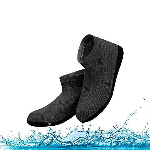 Waterproof Rain Shoes & Boots Cover, Dirt-proof and Slip-resistant Reusable Shoes Covers, Made of Durable & High Elastic Rubber, Suitable for Outdoor Activities (Large, Black) (Best Shoes For Snow And Rain)