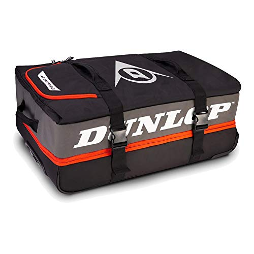 DUNLOP Performance Wheelie Tennis Bag Gray and Red (TennisExpress)