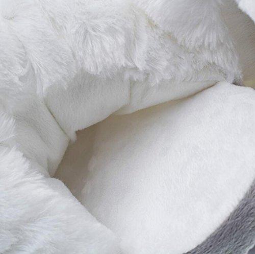 de Invierno Zapatos Unisex One Pink de para DANDANJIE Forro Chanclas Casual Comfort Size Color Zapatos algodón de Blanco Zapatillas Rosado Piel White tamaño y caseros xXqFq85