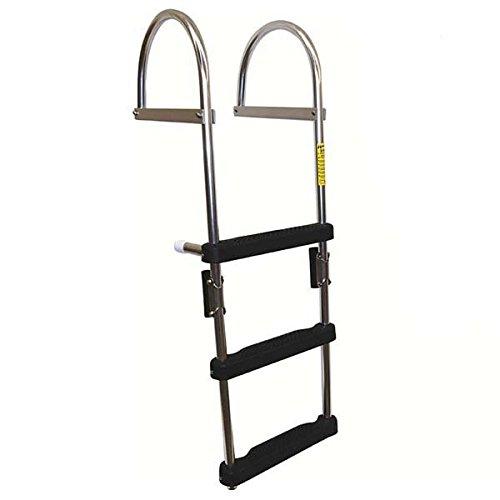 AMRG-12370 * 4 Step Folding Pontoon Transom Boarding Ladder
