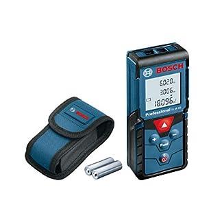 Bosch Professional Laser Entfernungsmesser GLM 40 (Flächen-/Volumenberechnung, max. Messbereich: 40 m, 2x 1,5-V Batterien, Schutztasche) 2
