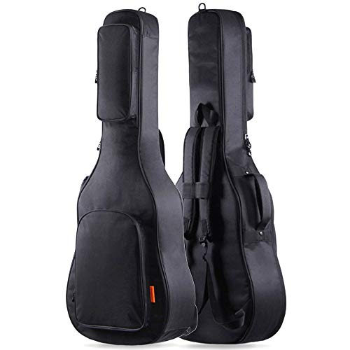 GLEAM Guitar Gig Bag Thicker 0.6 Inch Sponge Padding Fit 41 Inch Acoustic with Two Large Bag - Waterproof ()