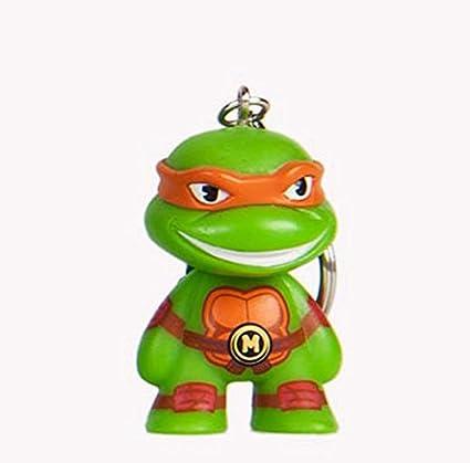 Animewild Kidrobot x Teenage Mutant Ninja Turtles Keychain Mini-Figure Series (Michelangelo)