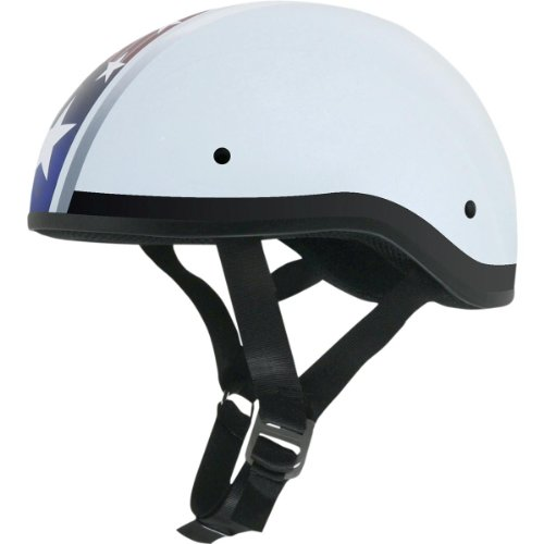 AFX FX-200 Unisex-Adult Half-Size-Helmet-Style Slick Beanie-Style Half Helmet (S Star Flat White, Small)