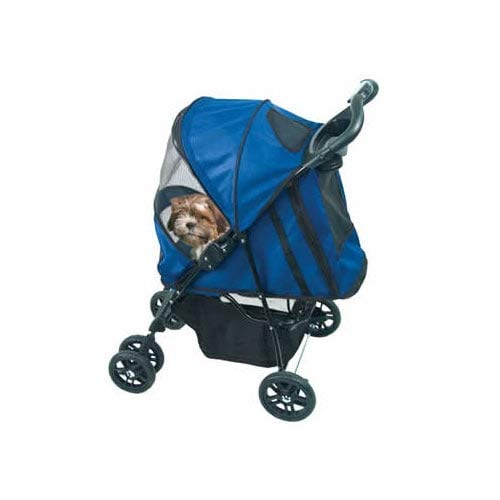 Pet Gear Happy Trails Pet Stroller for Cats/Dogs, Easy One-Hand Fold with Removable Liner, Storage Basket, Mesh…