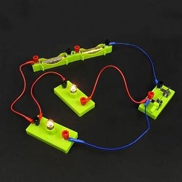 EsportsMJJ Elettrico Circuito Kit Lampadina Interruttore Conduttivo Linea Kid Scuola Educativo Scienza Giocattolo Fai Da Te Montessori