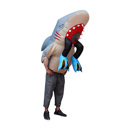 BestParty Fancy Adult Inflatable Clothing Shark Halloween Costume -