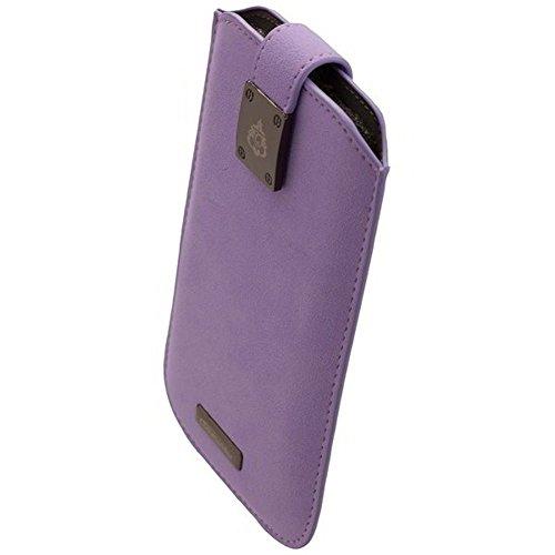 COMMANDER Tasche MILANO XXL5.7 Violet für Samsung Galaxy S7 Edge / Apple iPhone 7 Plus + Reinigungstuch iMoBi