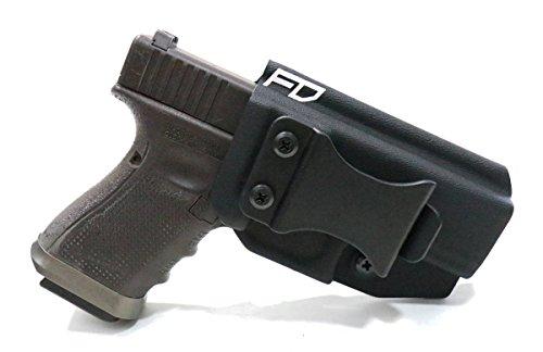 Fierce Defender IWB (Inside Waistband) Kydex Holster Glock 19 23 32 'Winter Warrior Series' (Black) GEN 5 Compatible!