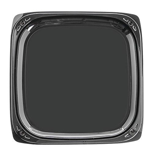 - SABERT COPERATION C9614 14.1 Square Black Pete Tray/Dome Lid Combo, 25 CS