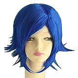 Juvia Lockser Wig Fairy Tail Juvia Cosplay Short Blue Warping Wig Costume Accessories