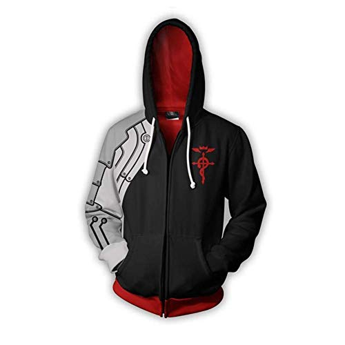 2019 Iron Fist Cosplay Costume 3D Sweater Hoodie Jacket Sporty Zipper Coat Gift (XXS, DB1)