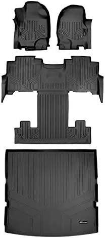 MAXLINER Floor Mats and Cargo Liner Behind 2nd Row Set Black for 2018-2021 Expedition with 2nd Row Bucket Seats (No Max)