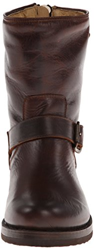 Veronica de Back Short Dark Botas Frye Brn Zip mujer canvas vfwdvq