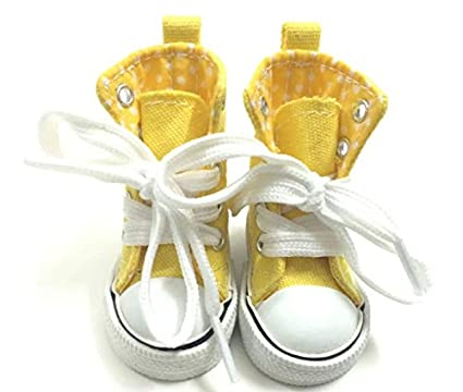 8f577a178ed04 Amazon.com: Studio one Canvas 6CM Doll Yellow Shoes Sneakers Shoes ...