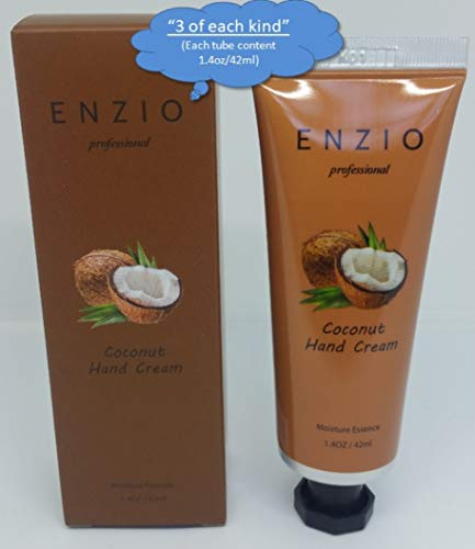 """ENZIO Professional Grade Shea Butter Based Hand Cream Lotion Gift Set """"Party Pack"""" (7 variety x 3 = 21 tubes total) (Free of Parabens, Benzophenone, Talc, and Color Additives) by ENZIO (Image #3)"""