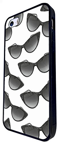 778 - Multi Sunglasses Fun Design iphone SE - 2016 Coque Fashion Trend Case Coque Protection Cover plastique et métal - Noir