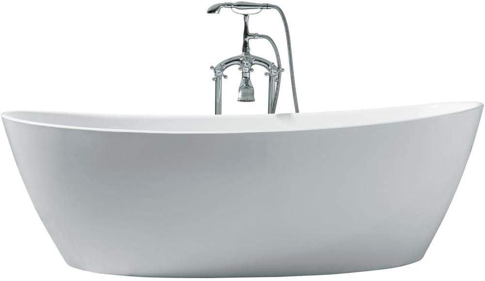 "DKB Zarya UB118-7034 Freestanding Acrylic Bathtub 70"" x 34"" Inches"