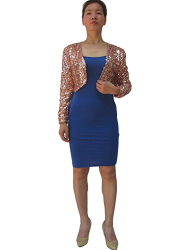 Sequence Sequin Halloween NYE Shrug Cardigan Coat Jacket Bolero Clothing Costume -
