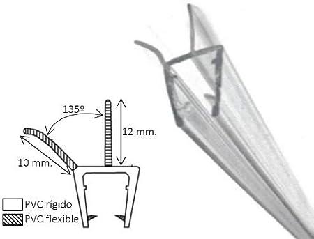 Goma mampara de 1 metro de longitud | Valido para groso 4 ó 5mm | Fácil montaje | Alta calidad | Marca española: Amazon.es: Bricolaje y herramientas