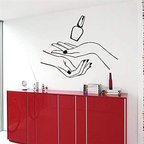 Nails Beauty Salon Wall Decal manos polaco patron de diseño de ...