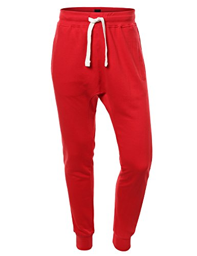 URBANCREWS Mens Hipster Hip Hop Drawstring Sweatpants Various Colors