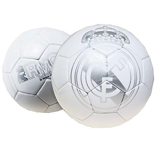 Real Madrid Gran de balón de fútbol de color plateado y ...