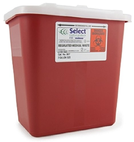 McKesson Preven Sharps Container t 10.25 H X 7 W X 10.5 D Inch 2 Gallon Red Base