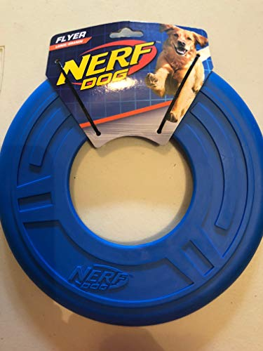 Nerf 2 Pack of Atomic Flyer Dog Toy 10.0 inches (L) x 10.0 inches (W) Various Colors by Nerf