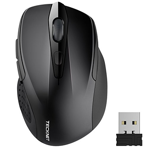 TeckNet Pro 2.4G Ergonomic Wireless Mobile Optical Mouse with USB Nano Receiver for Laptop,PC,Computer,Chromebook,Macbook,Notebook,6 Buttons,24 Months Battery Life,5 DPI Adjustment Levels by TECKNET (Image #9)