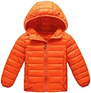 BOFETA Kids Winter Solid Light Weight Jackets Girls and Boys Packable Hooded Puffer Jacket 0-14 Years