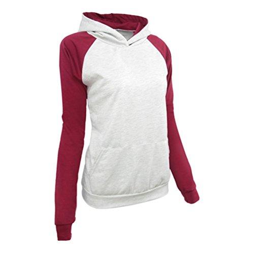 ZKOO Mujer Capucha Suéter Encapuchado Chaquetas Chaquetas Abrigo Manga Larga Hoodies Color Sólido Outwear Con Los Bolsillos Como la imagen1