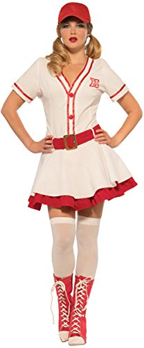 Women's No Crying Baseball Sweetie Big Hitter Costume Large 12-14