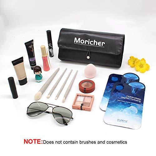 MoricherMakeupBrushBagwith12BrushesSlotsandCosmeticStorageBagforTravelPortable