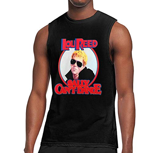 Lou Reed Sally Can't Dance Mens Unique Design Leisure Sleeveless T-Shirt XXL Black