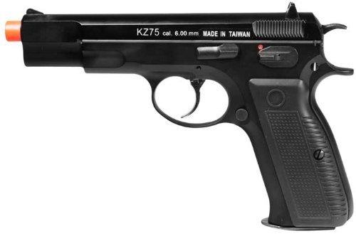 kwa kz75 airsoft gas blow back pistol ns2 version - black(Airsoft Gun) Black Gas Pistol