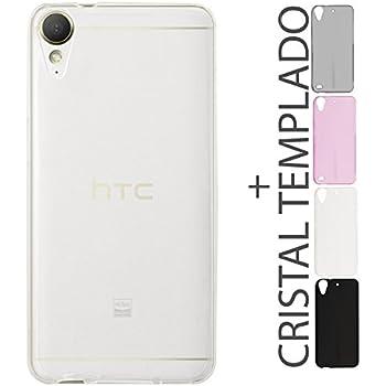 d3b08076ca4 Kit Funda Protectora TPU Transparente De Colores Mas Mica De Cristal HTC  Desire 10 Lifestyle 825