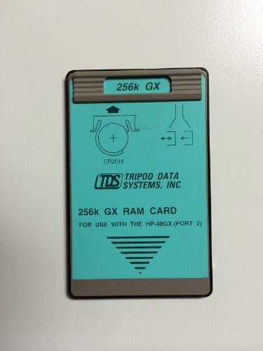 - TDS 256K RAM Card for the HP 48GX