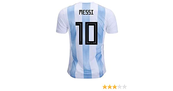 Amazon.com  Argentina Home Youth Messi Jersey 2018 2019 (Official  Printing)  Clothing a3cad2249