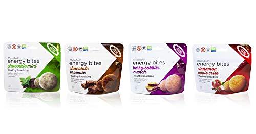 MetaBall Energy Bites – Mixed Flavor 4-Pack, Bite-Sized Protein Snack, Allergy Friendly, Vegan, Kosher, Gluten-Free (4-Pack, 1.76 oz)