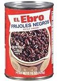 El Ebro Frijoles Negros / Black Beans 15oz 5 Pack