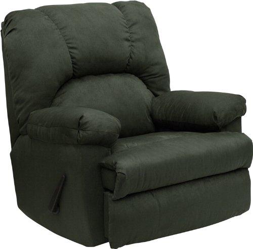 - Flash Furniture Contemporary Montana Loden Microfiber Suede Rocker Recliner