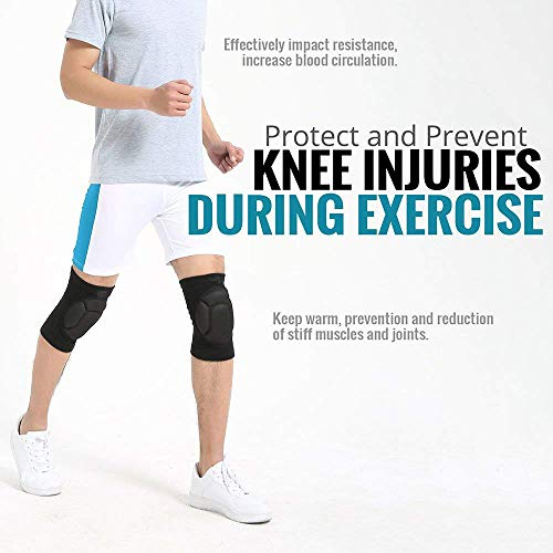 TY BEI Kneepad Kneepad - Protective Knee Pads, Thick Sponge Anti-Slip, Collision Avoidance Knee Sleeve @@ (Color : Black) by TY BEI (Image #2)