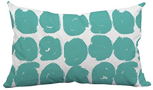 "Positively Home Polka Dots Outdoor Lumbar Pillow, 14"" x 20"", Blue"