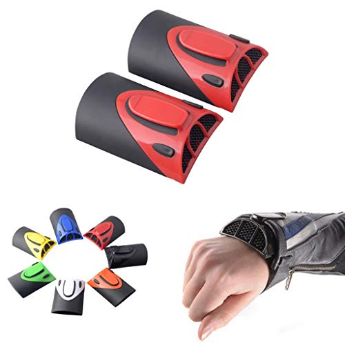 Goldfire 1 Pair Universal Cooling Arm Sleeves Accessories Motorcycle Cooling System Jacket Sleeve Vent for Summer Warm Weather (Red)