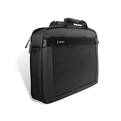 HANERGY Thin Film Solar Powered 8W Laptop Computer Case Electronics Business Shoulder Bag Notebook MacBook iPad Protective Case with Handle & Accessory Pocket (Black) by HANERGY (Image #4)
