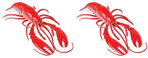 2 - RED Realistic Plastic Lobsters Decorations 10